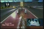 Racing car explosion