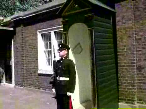 Messing with British Guard