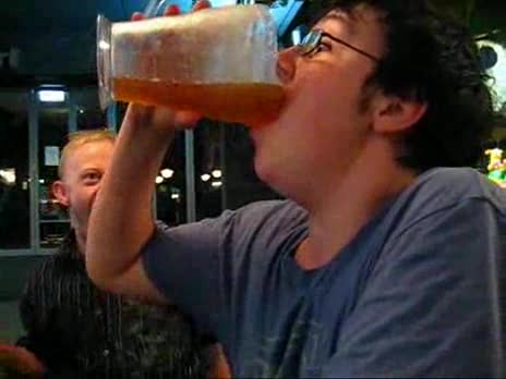Pitcher of Beer Chug