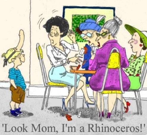 A rhino with a dildo lol.