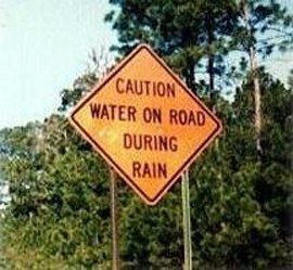 Duh...that would be what happens when it rains.