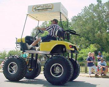 A monster sized golf cart.