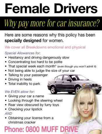 Car insurance for female drivers.