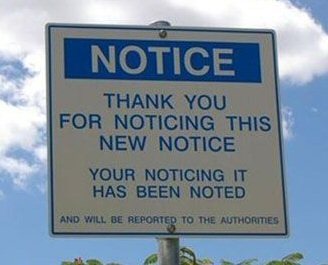 Anyone would take a good note of this notice.