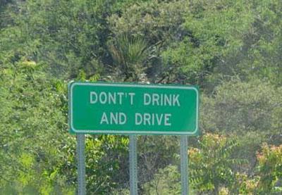 Funny, misspelled road sign.